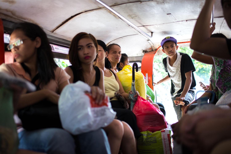 Brown jeepney ride