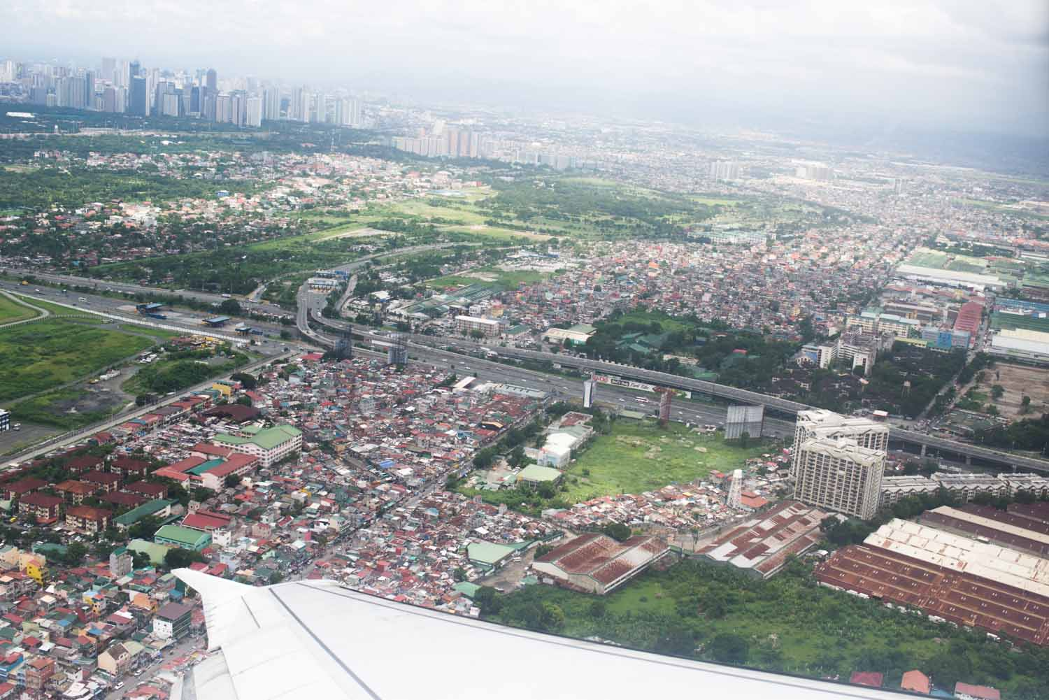 Arial view of Manila